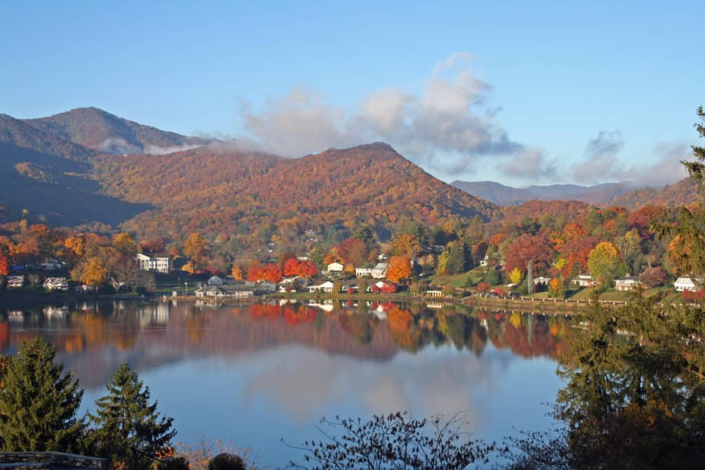 Lake Junaluska in fall