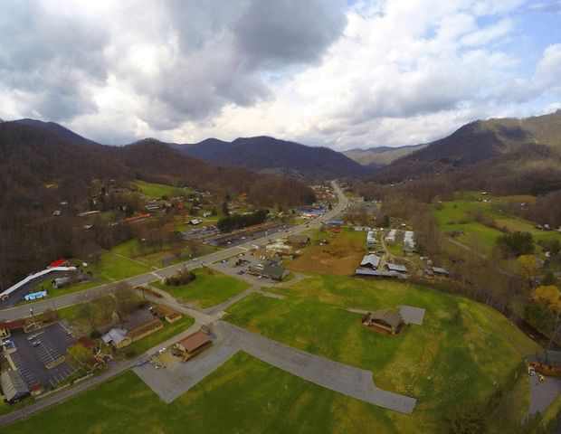 Aerial of Maggie Valley